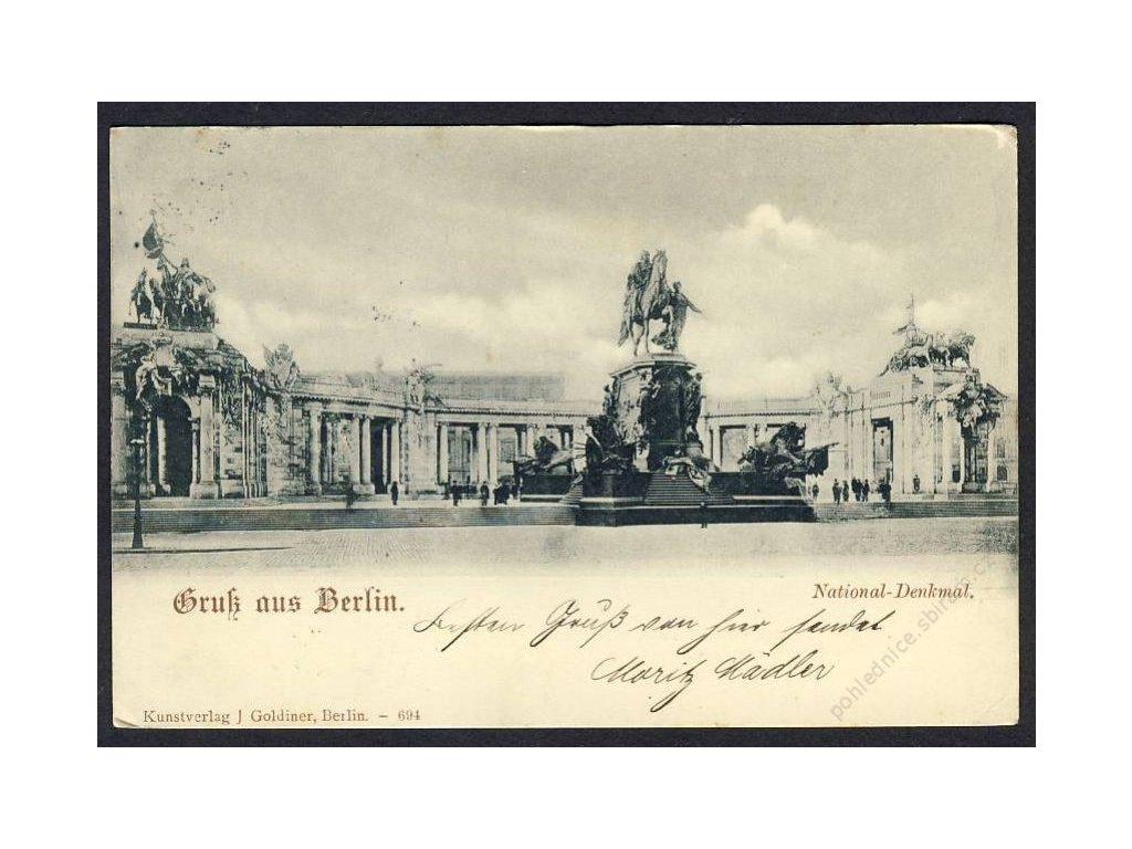 Deutschland, Gruss aus Berlin, National-Denkmal, cca 1898