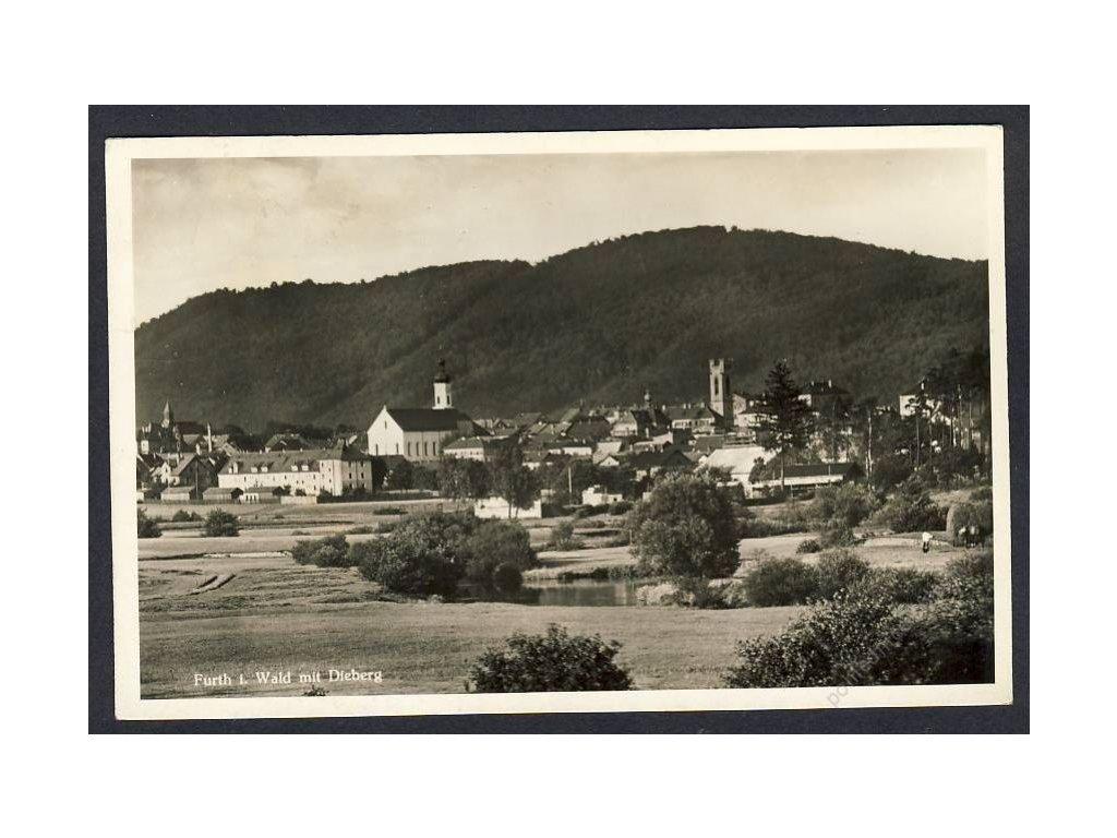 Deutschland, Furth i. Wald mit Dieberg, cca 1935