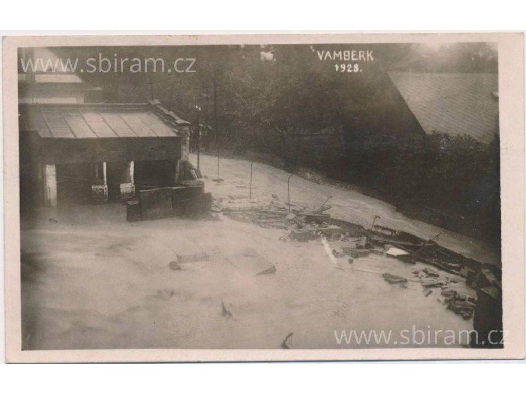 57 - Rychnovsko, Vamberk, Povodeň, cca 1928