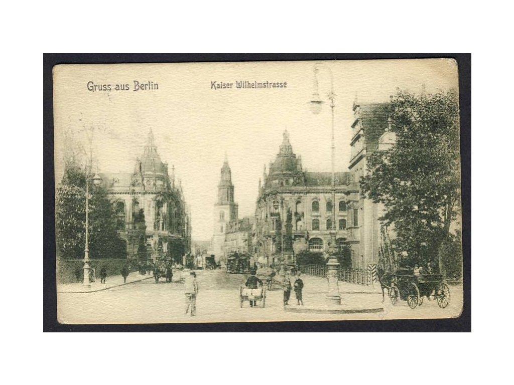 Deutschland, Gruss aus Berlin, Kaiser Wilhelmstrasse, cca 1908