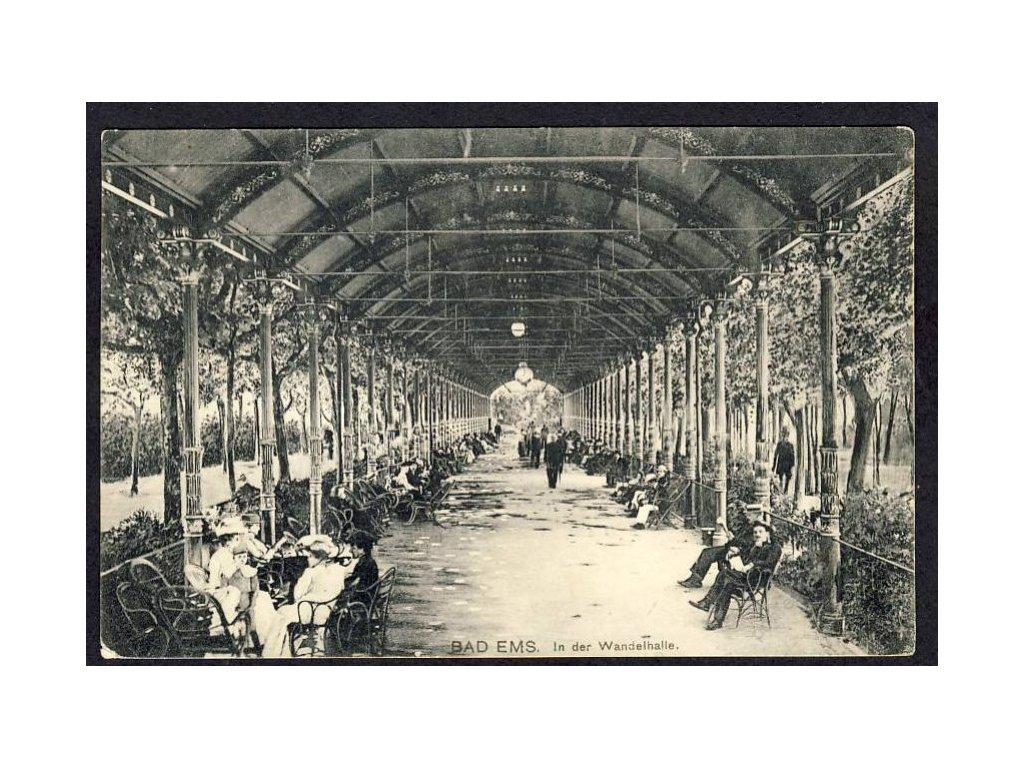 Deutschland, Bad Ems, in der Wandelhalle, cca 1915