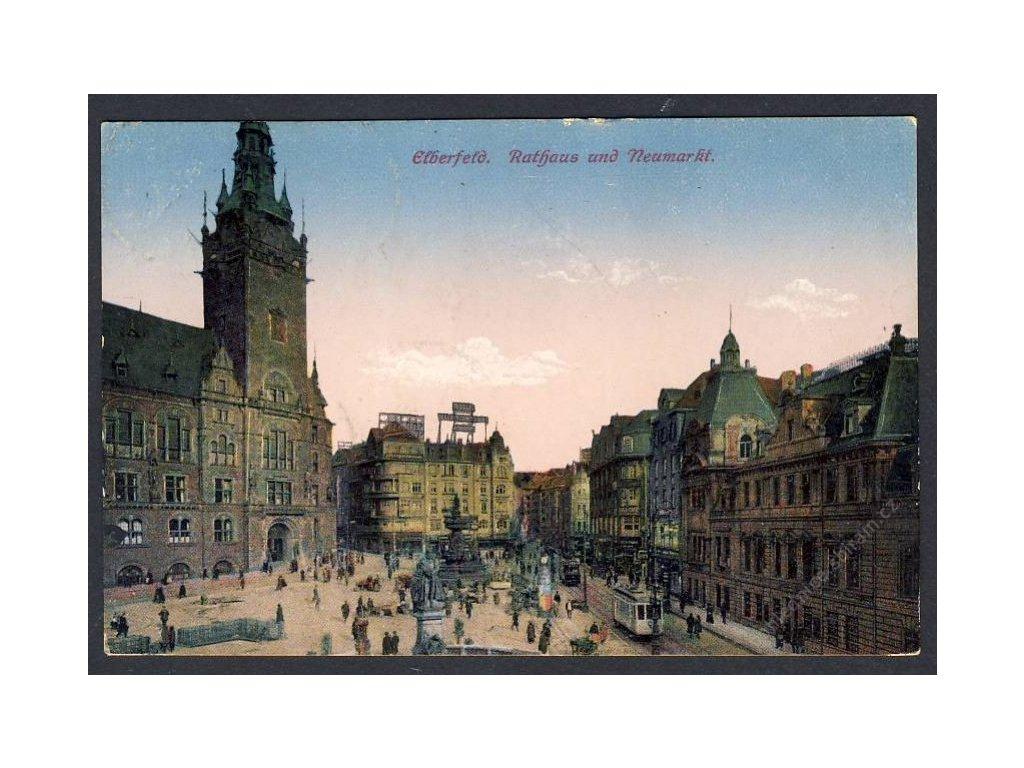 Deutschland, Elberfeld, Rathaus und Neumarkt, cca 1925