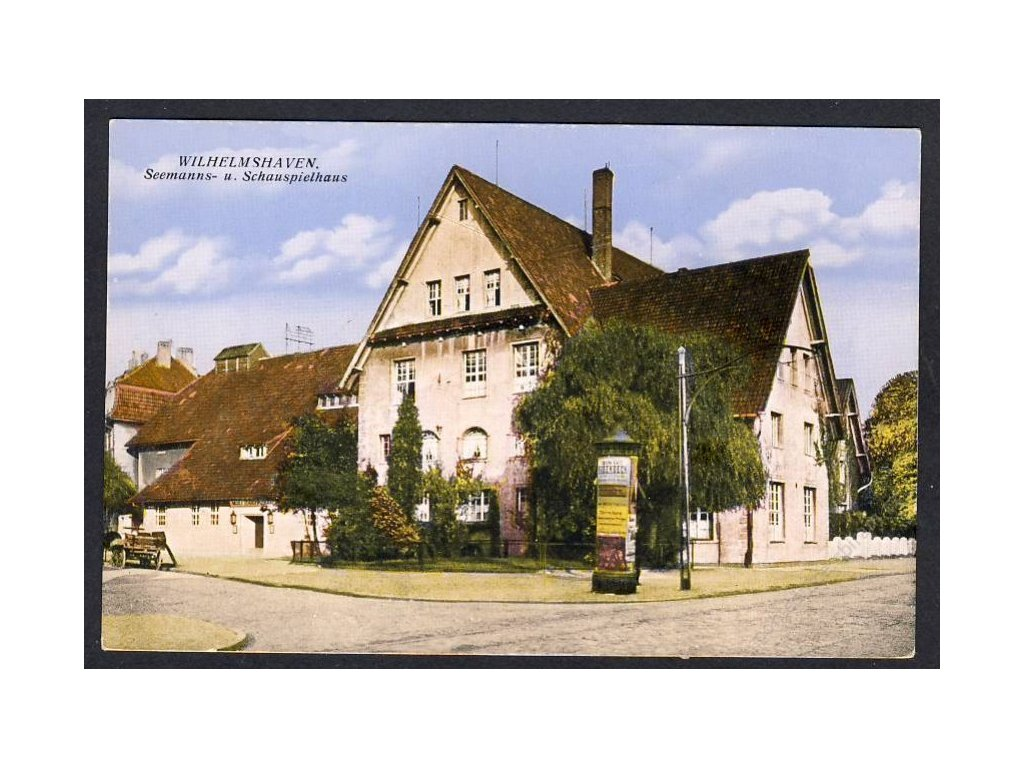 Deutschland, Wilhelmshaven, Seemanns- u. Schauspielhaus, cca 1918