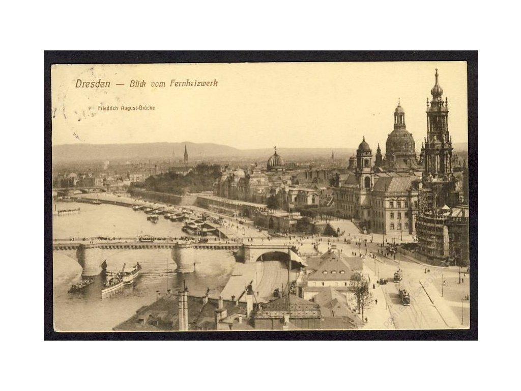 Deutschland, Dresden, Blick vom Fernheizwerk, cca 1913