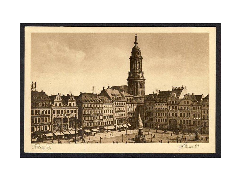 Deutschland, Dresden, Altmarkt, cca 1920