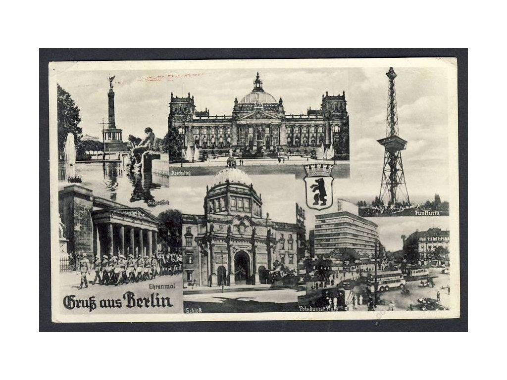 Deutschland, Gruss aus Berlin, Reichstag, Schloss, Potsdamer Platz u. Ä., cca 1944