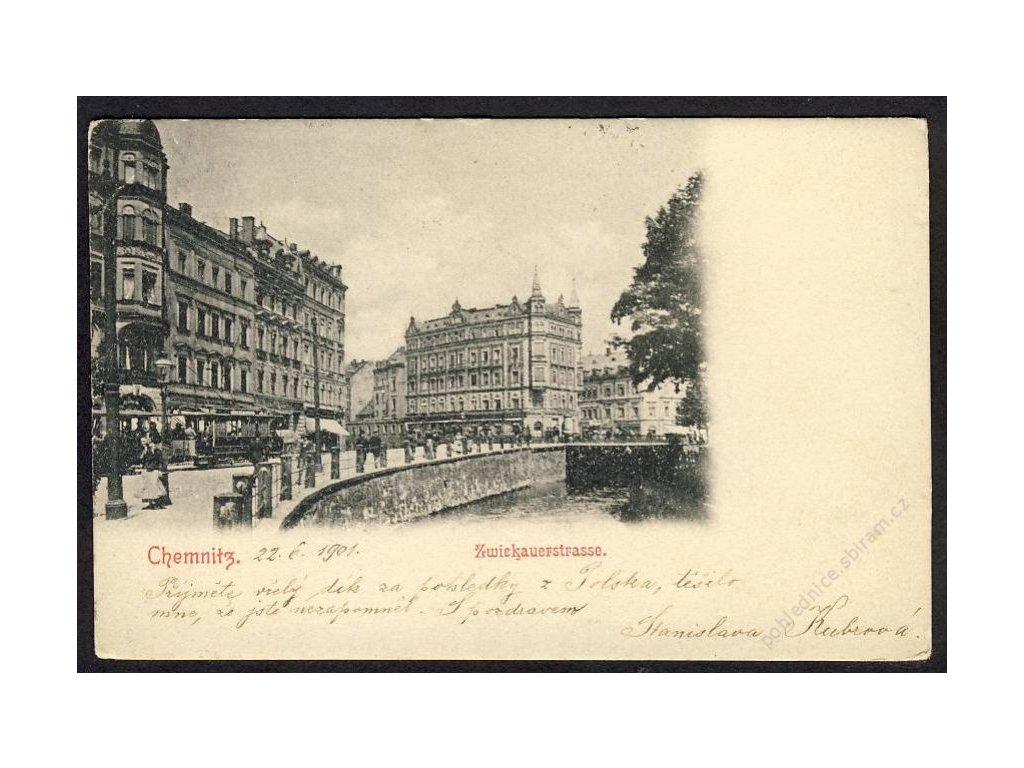 Deutschland, Chemnitz, Zwiekauerstrasse, cca 1901
