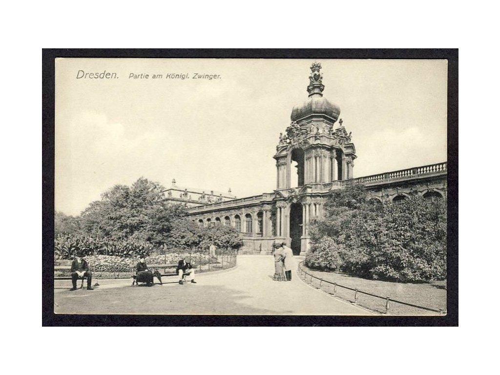 Deutschland, Dresden, Partie am Königl. Zwinger, cca 1908