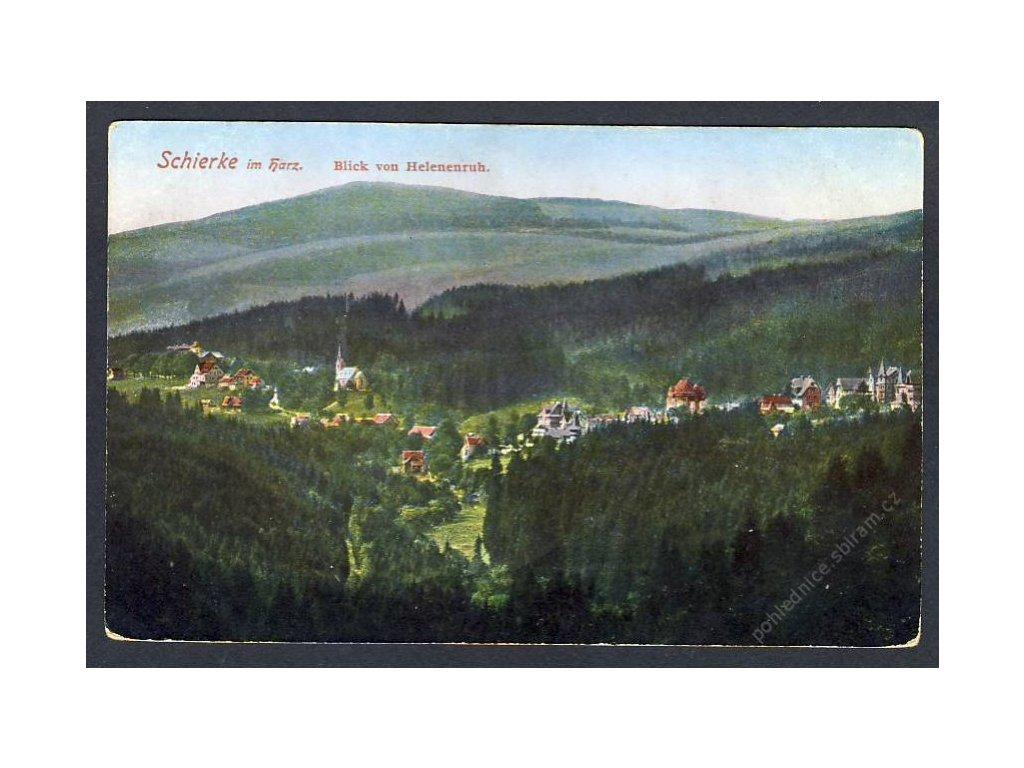Deutschland, Schierke im Harz, Blick von Helenenruh, cca 1915