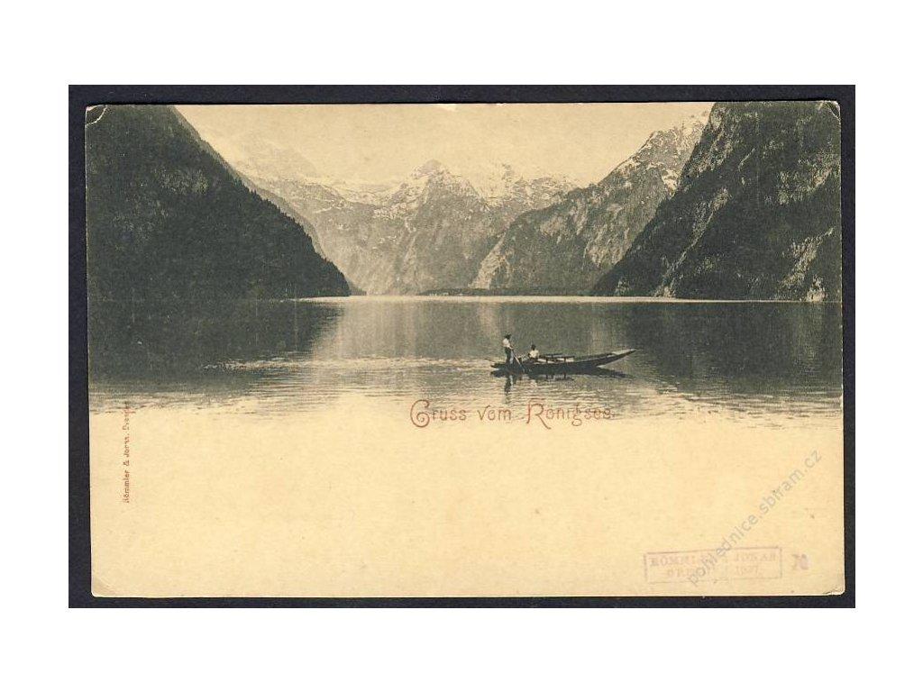 Deutschland, Gruss vom Königsee, cca 1898
