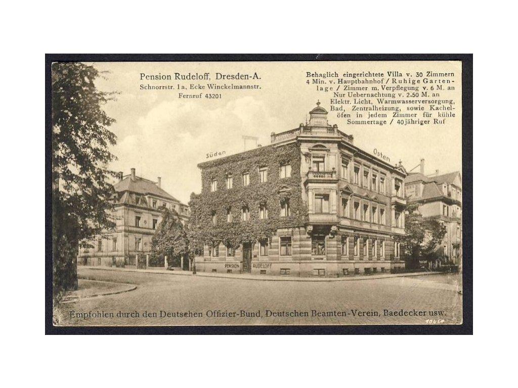 Deutschland, Dresden-A., Pension Rudeloff, cca 1920