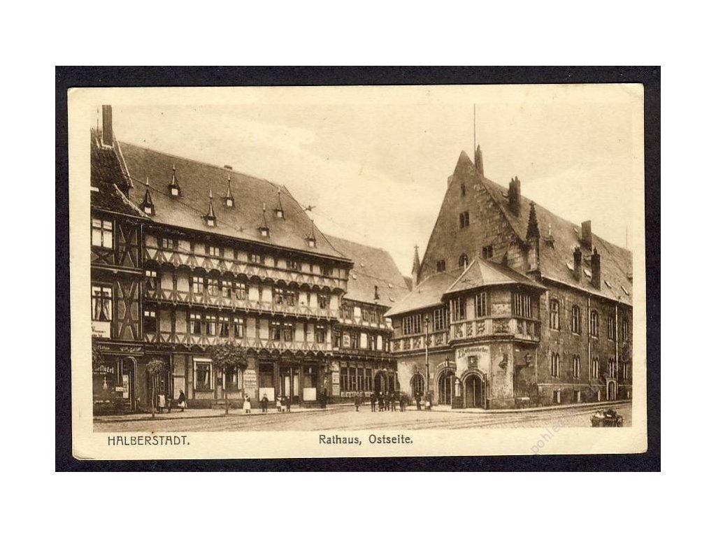 Deutschland, Halberstadt, Rathaus, Ostseite, cca 1917