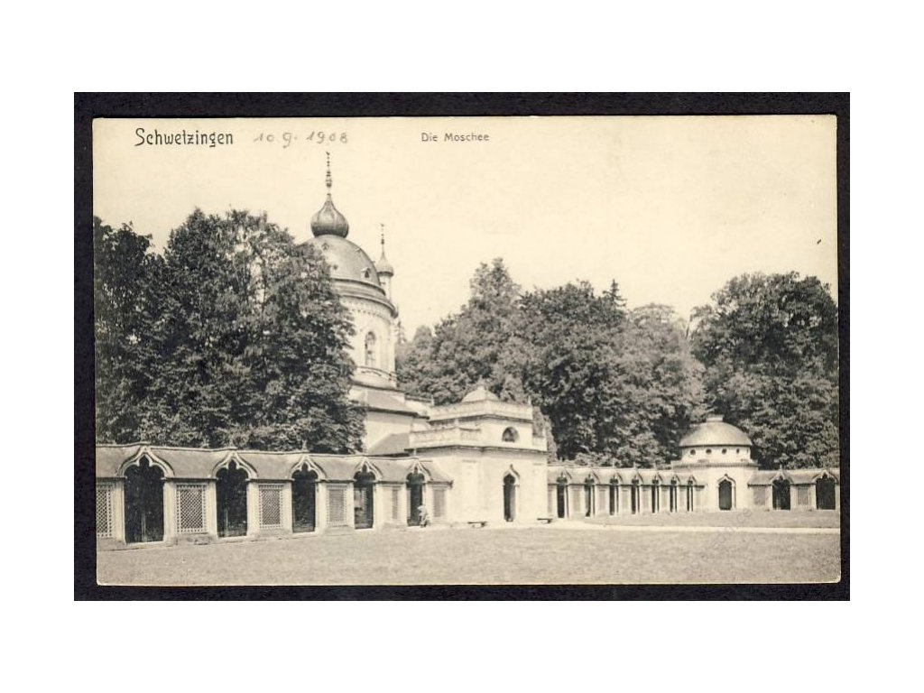 Deutschland, Schwetzingen, Die Moschee, cca 1908