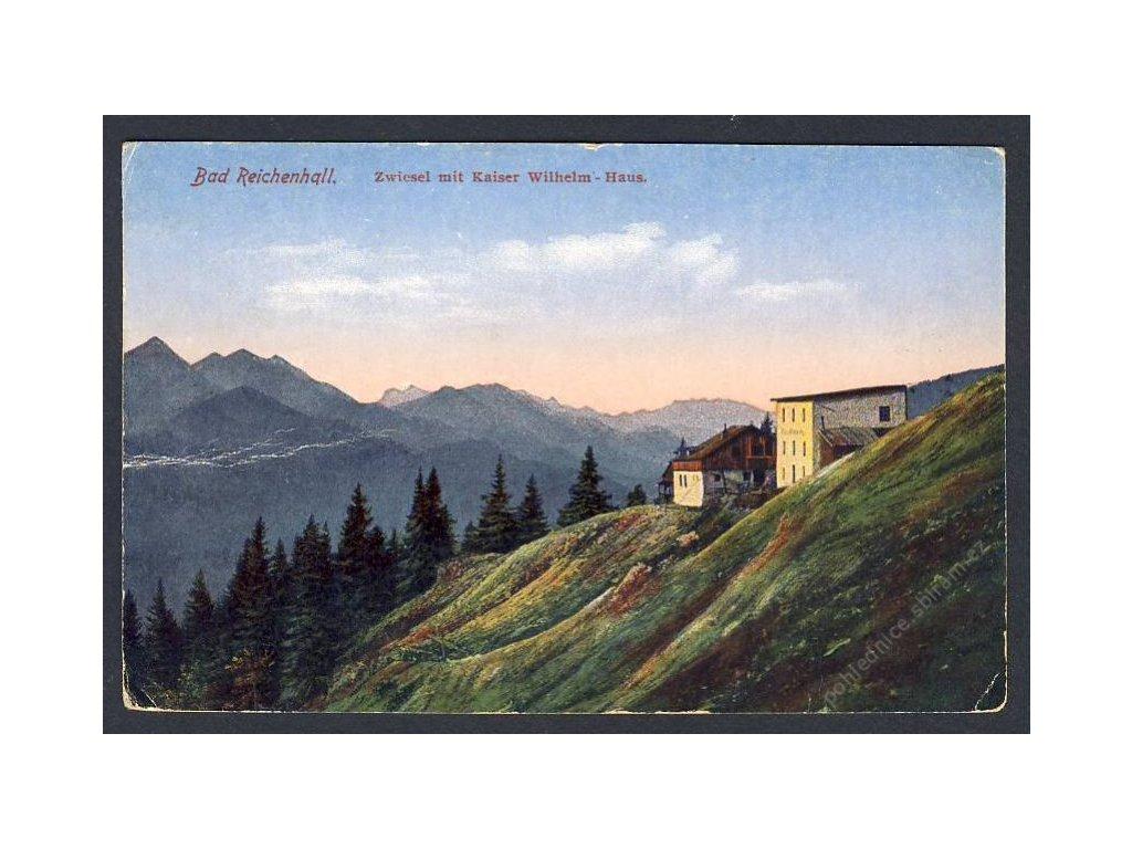 Deutschland, Bad Reichenhall, Zwiesel mit Kaiser Wilhelm-Haus, cca 1920