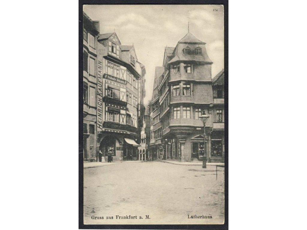 Deutschland, Gruss aus Frankfurt a. M., Lutherhaus, cca 1908