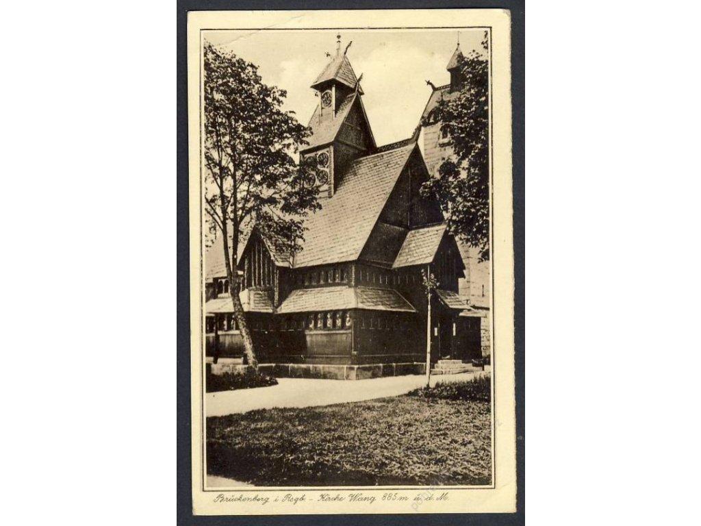 Polen, Brückenberg i. Rsgb. - Kirche wang, cca 1940