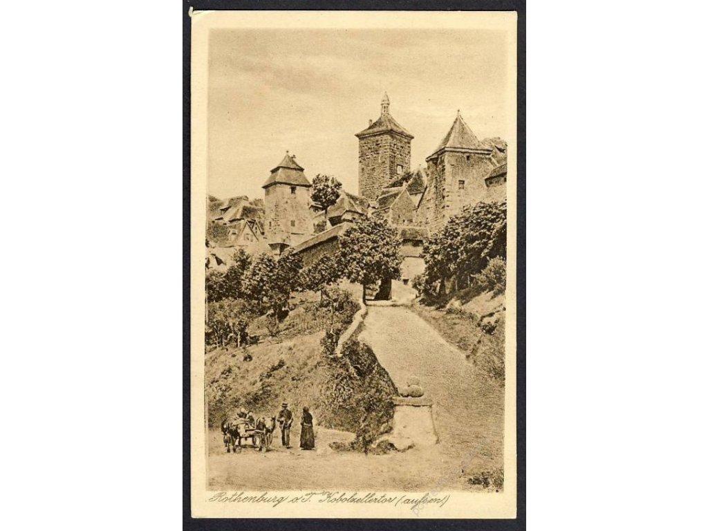 Deutschland, Rothenburg o. T., Kobolzellertor, cca 1920