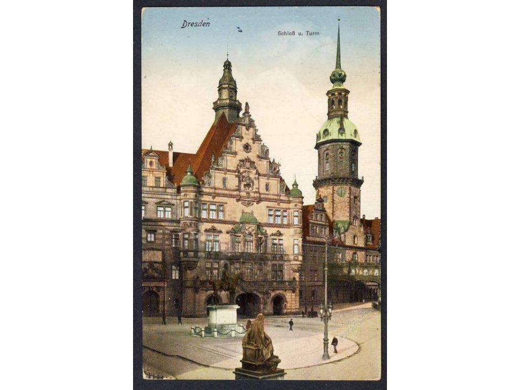 Deutschland, Dresden, Schloss u. Turm, cca 1930