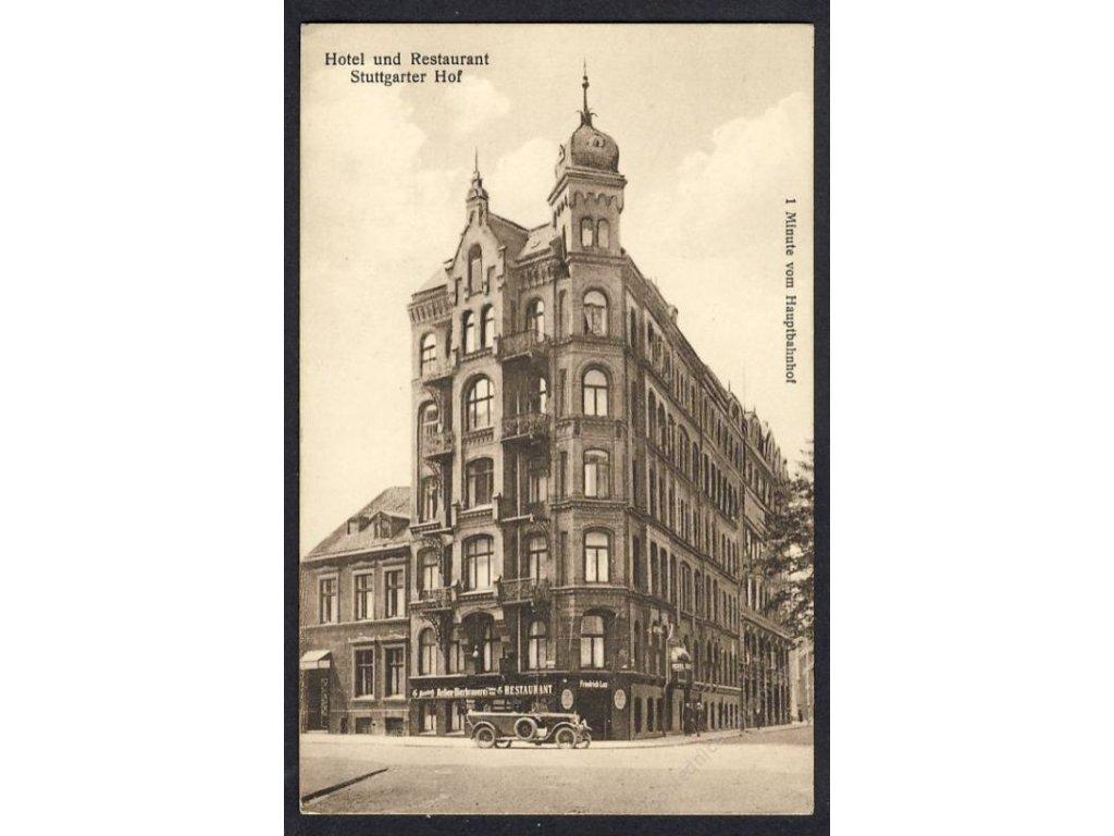 Deutschland, Stuttgart, Hotel und Restaurant Stuttgarter Hof, cca 1910