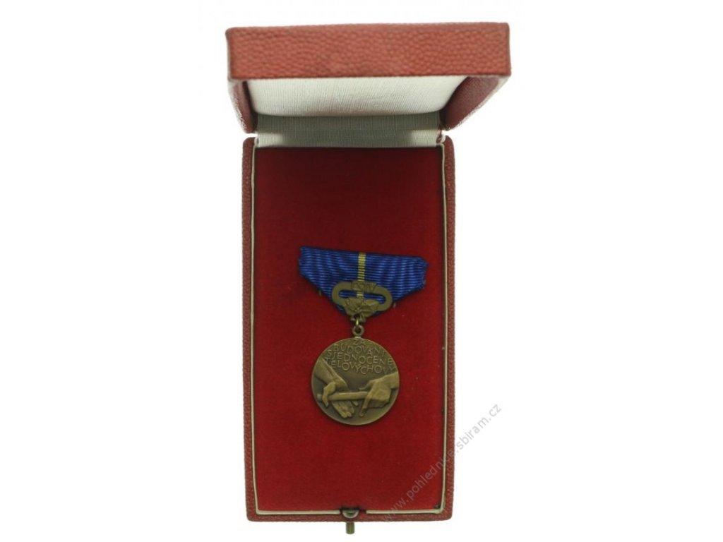 ČSSR, AE medaile Za budování sjednocené tělovýchovy, 1968