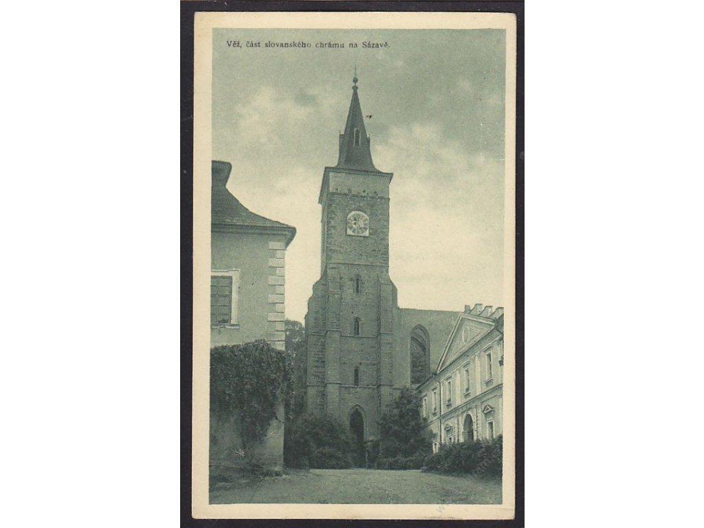 31 - Kutnohorsko, Věž, část slovanského chrámu na Sázavě, nakl. Chábera, cca 1925