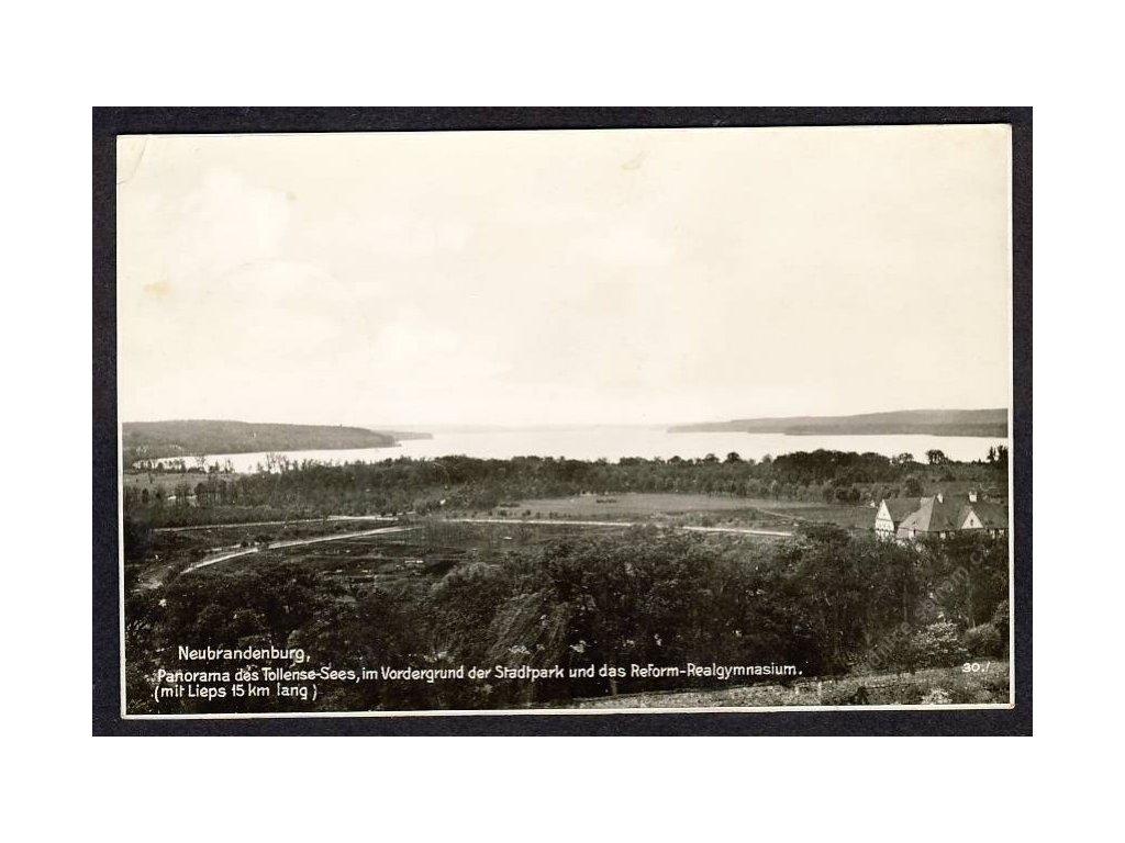 Deutschland, Neubrandenburg, Panorama des Tollense-Sees, cca 1940