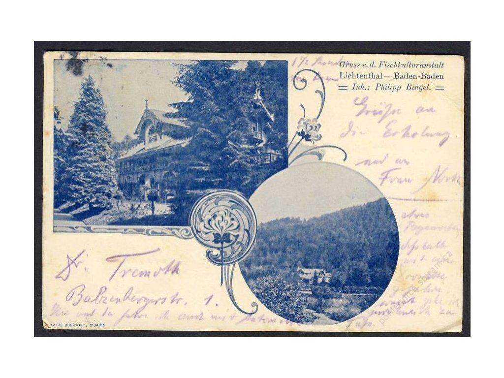 Deutschland, Baden-Baden, Fischkuluranstalt Lichtenthal, cca 1906