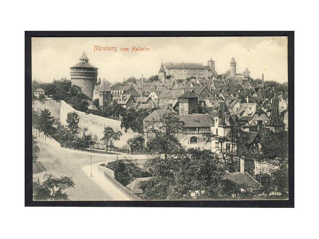 Deutschland, Nürnberg vom Hallertor, cca 1910