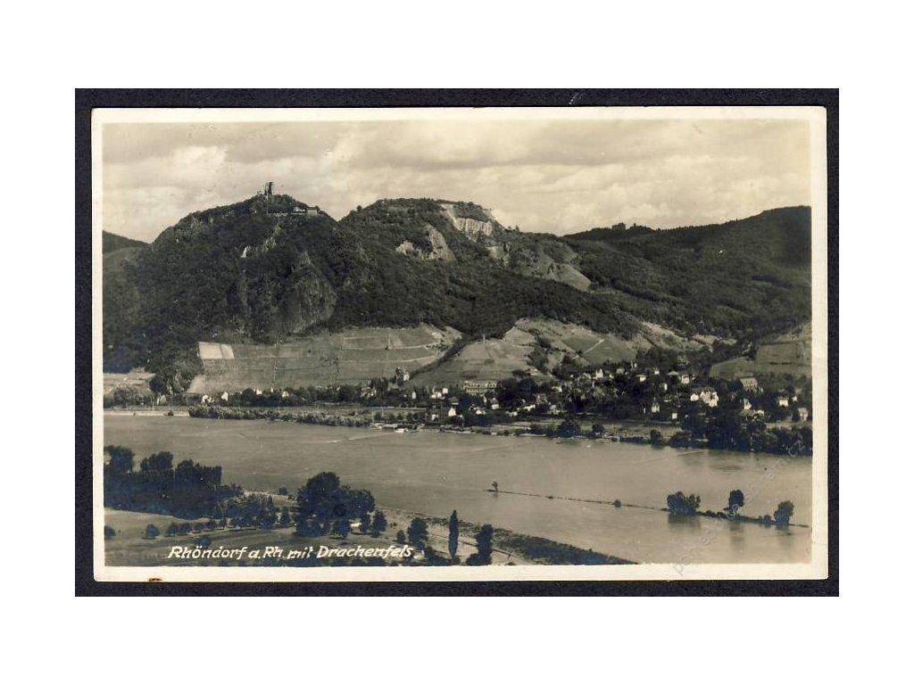 Deutschland, Rhöndorf a. Rh. mit Drachenfels, cca 1930