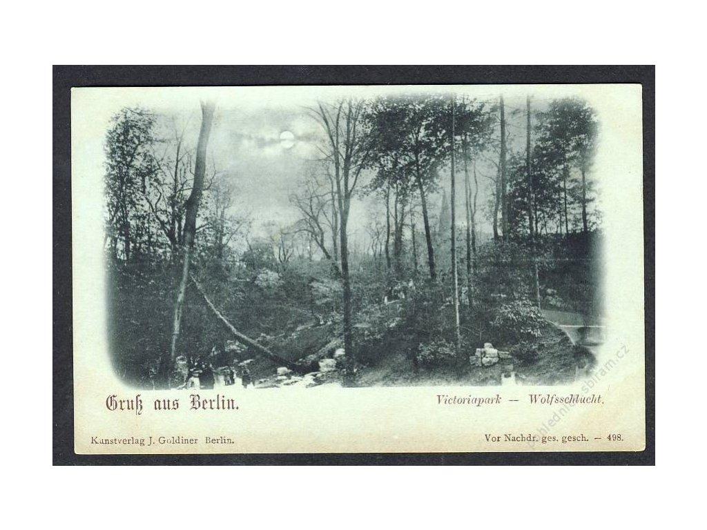 Deutschland, Gruss aus Berlin, Victoriapark - Wolfsschlucht, cca 1900