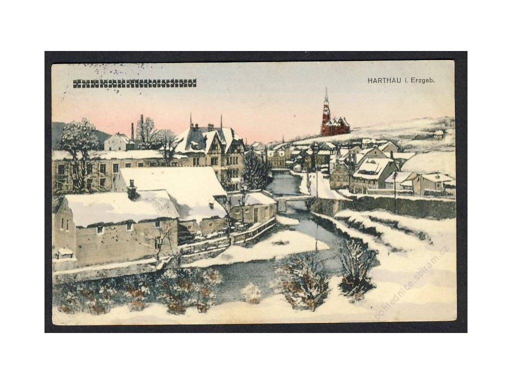 Deutschland, Harthau i. Erzgeb., Teilansicht, cca 1915