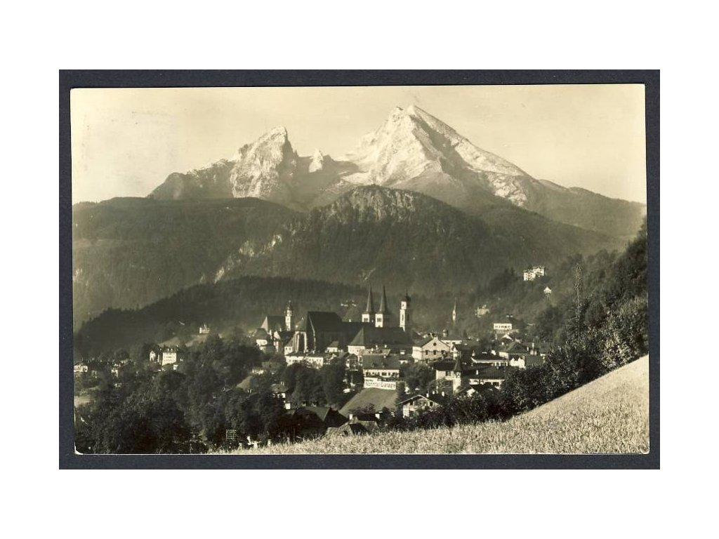 Deutschland, Berchtesgaden mit Watzmann, cca 1930