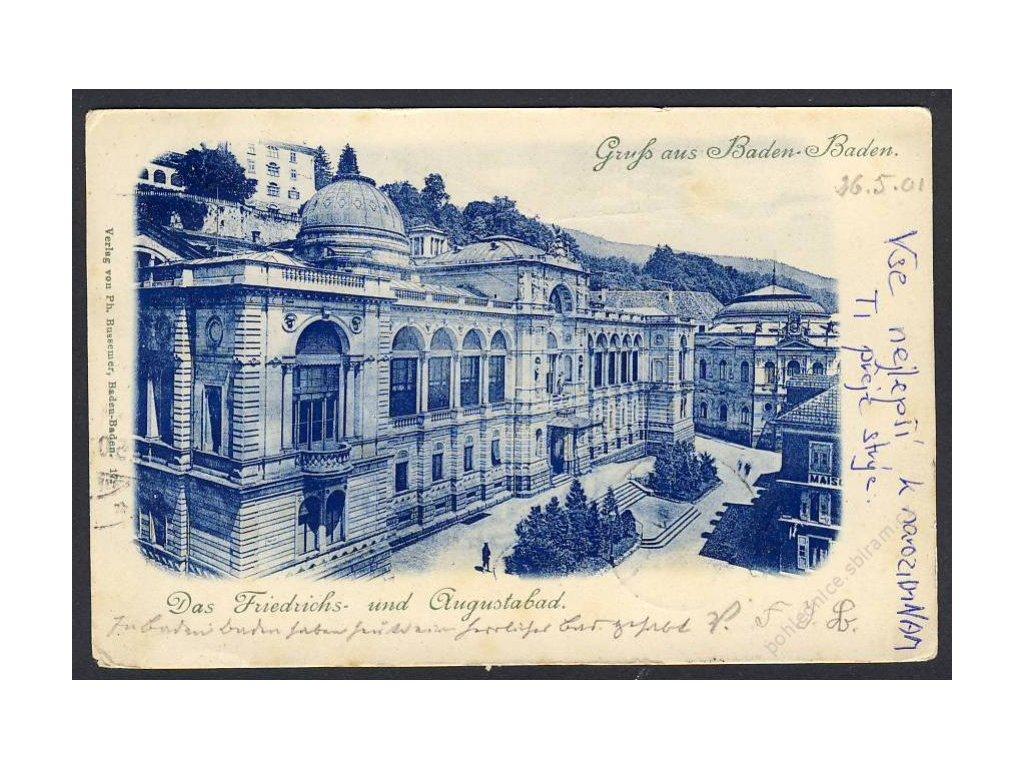 Deutschland, Gruss aus Baden-Baden, Das Friedrichs- u. Augustabad, cca 1901