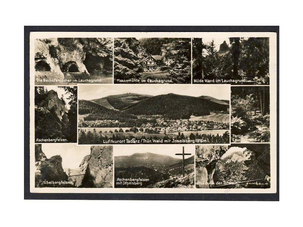 Deutschland Luftkurort Tabarz/Thür. Wald mit Inselsberg u. Ä., cca 1935