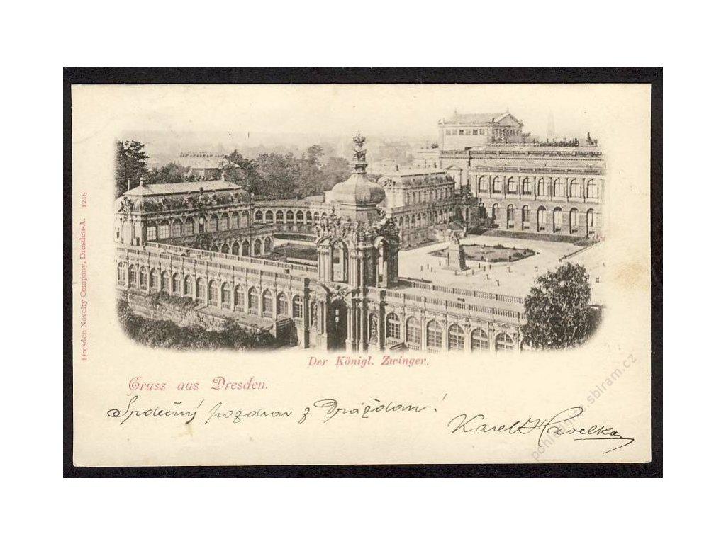 Deutschland, Gruss aus Dresden, Der Königl. Zwinger, cca 1899