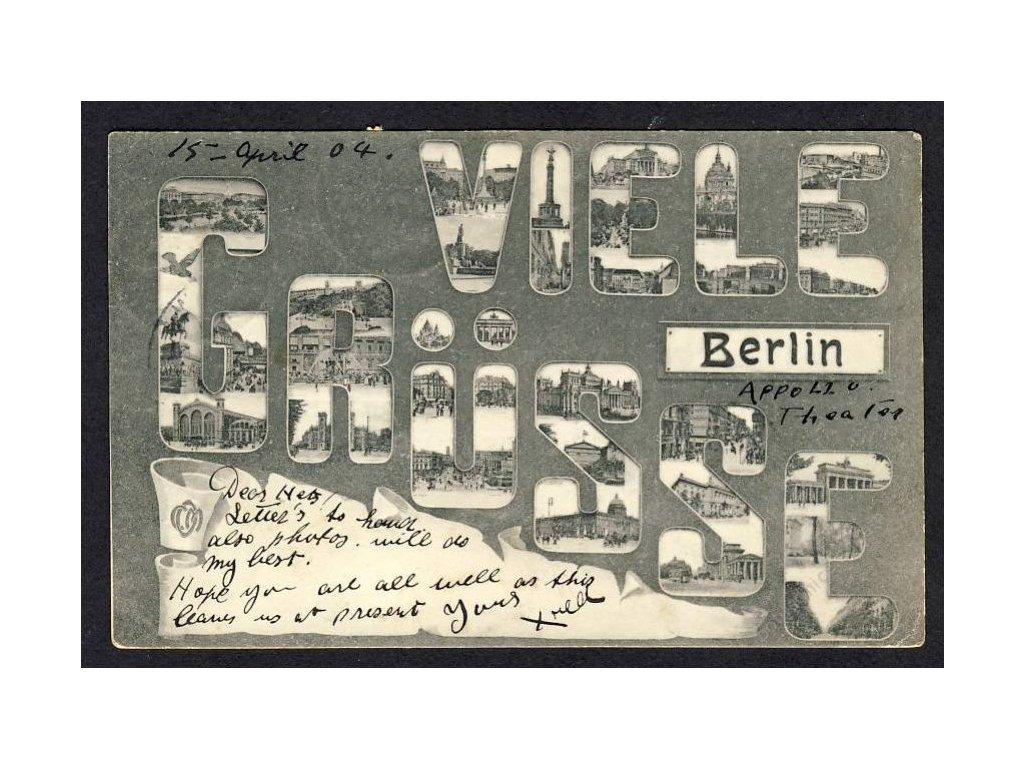 Deutschland, Viele Grüsse aus Berlin, cca 1904