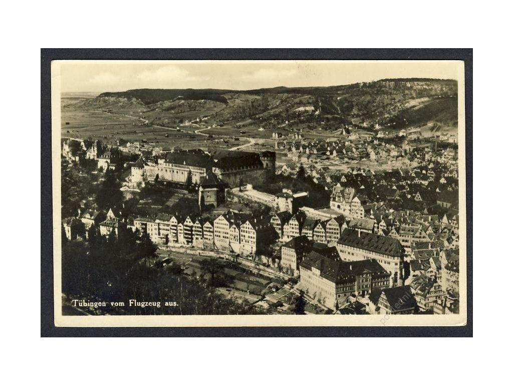 Deutschland, Tübingen vom Flugzeug aus, cca 1931