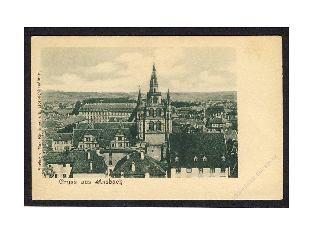 Deutschland, Gruss aus Ansbach, Teilansicht, cca 1898