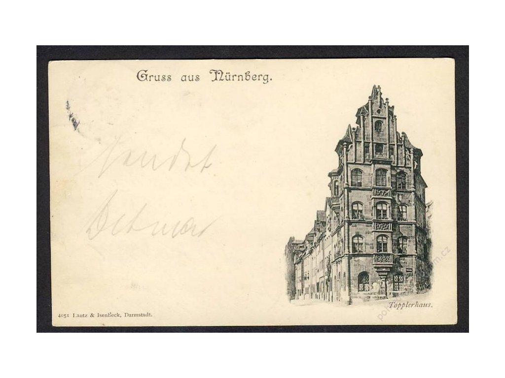 Deutschland, Gruss aus Nürnberg, Topplerhaus, cca 1897