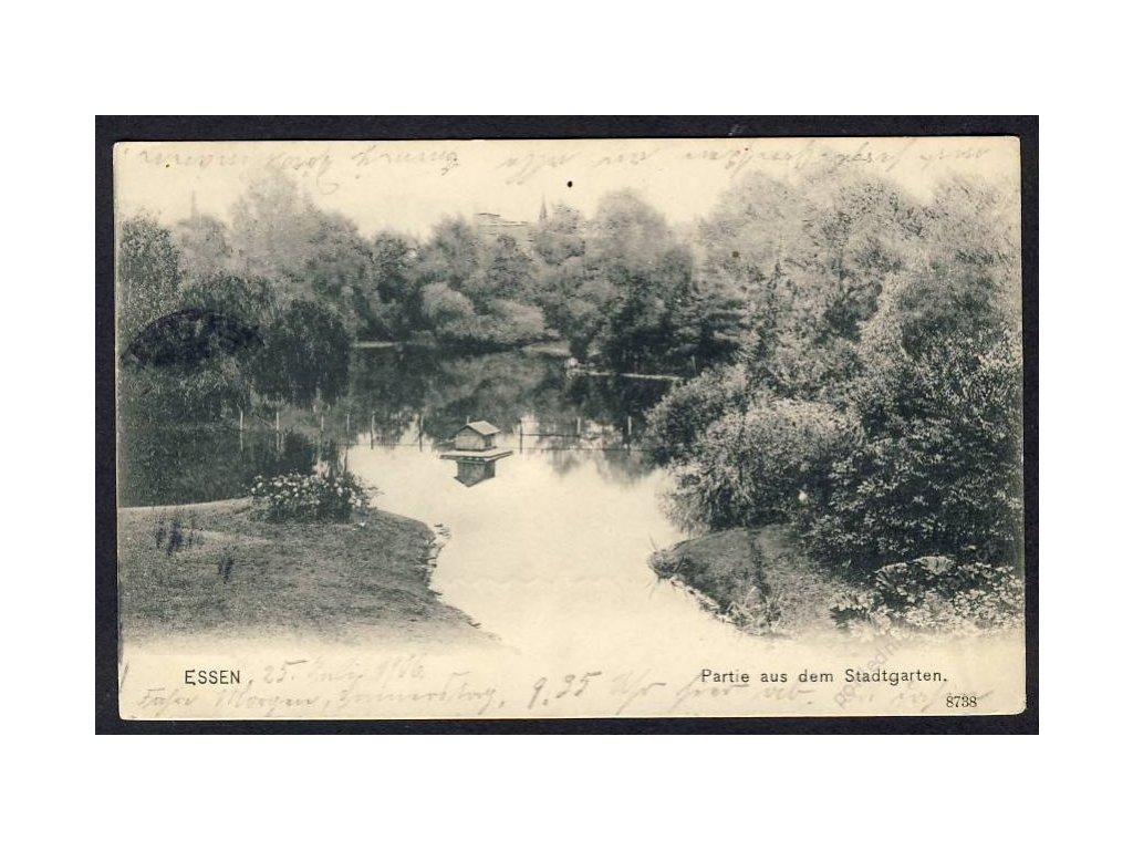 Deutschland, Essen, Partie aus dem Stadtgarten, cca 1900