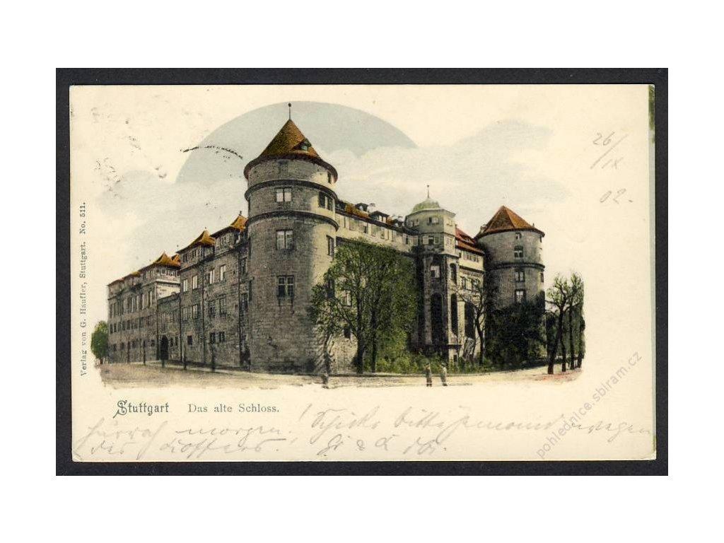 Deutschland, Stuttgart, Das alte Schloss, cca 1902