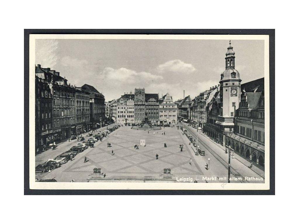 Deutschland, Leipzig, Markt mit altem Rathaus, cca 1920