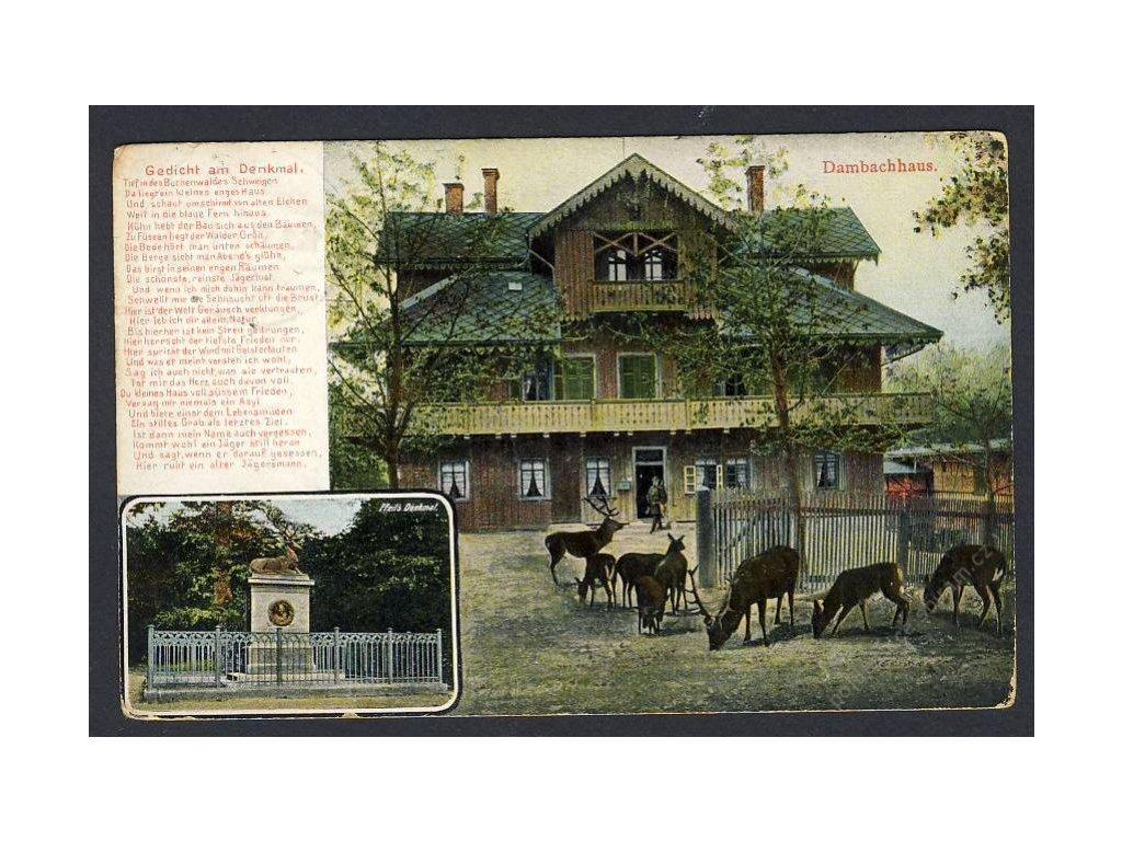 Deutschland, Dambachhaus, Pfeils Denkmal, cca 1910