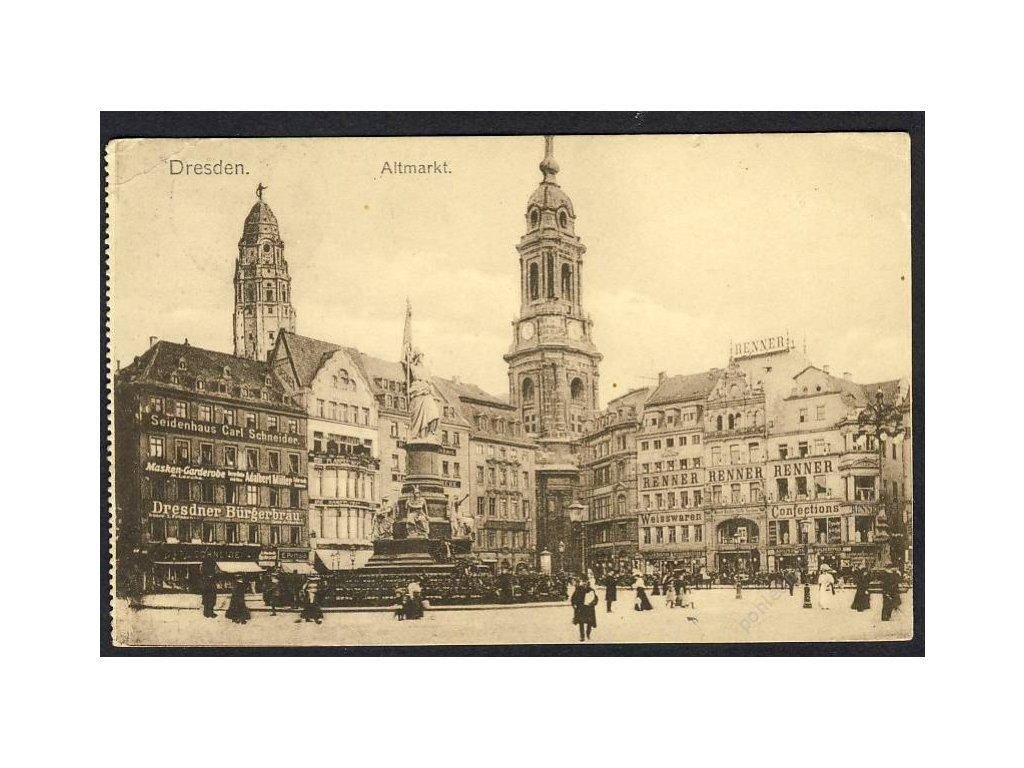 Deutschland, Dresden, Altmarkt, cca 1911