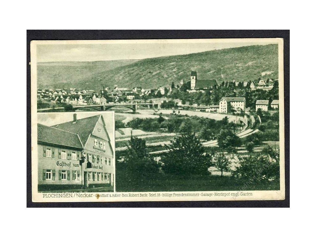 Deutschland, Plochingen/Neckar, Gasthof z. Adler, cca 1930