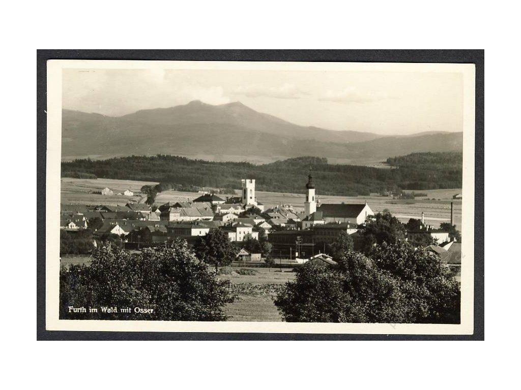 Deutschland, Furth im Wald mit Osser, cca 1930