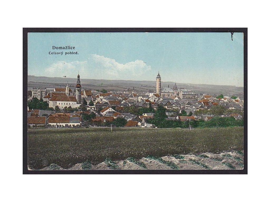 15 - Domažlice, celkový pohled, nakl. Schnabl, cca 1909