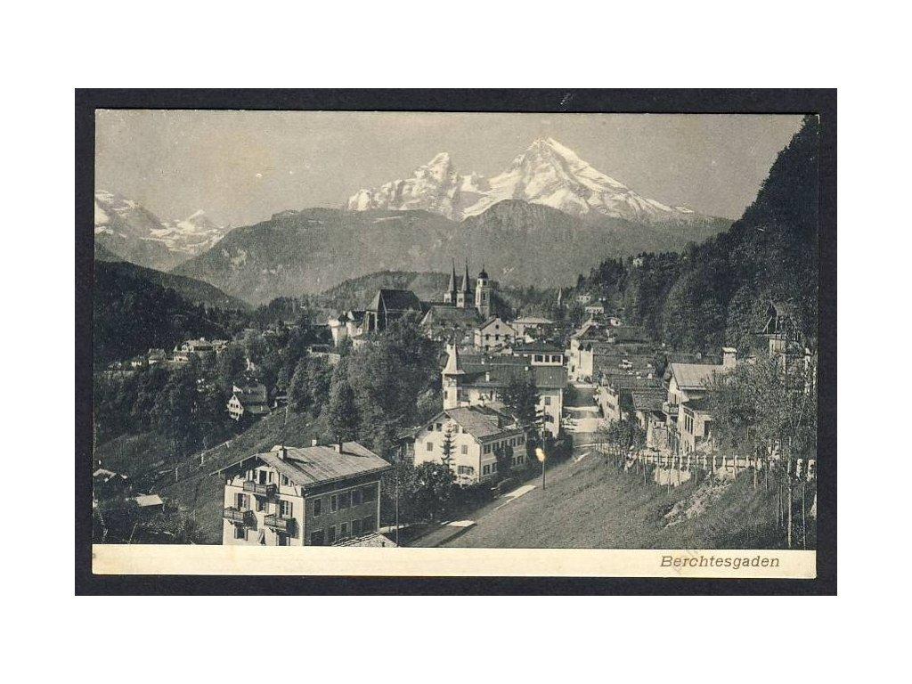 Deutschland, Berchtesgaden, Partie mit Alpen, cca1905