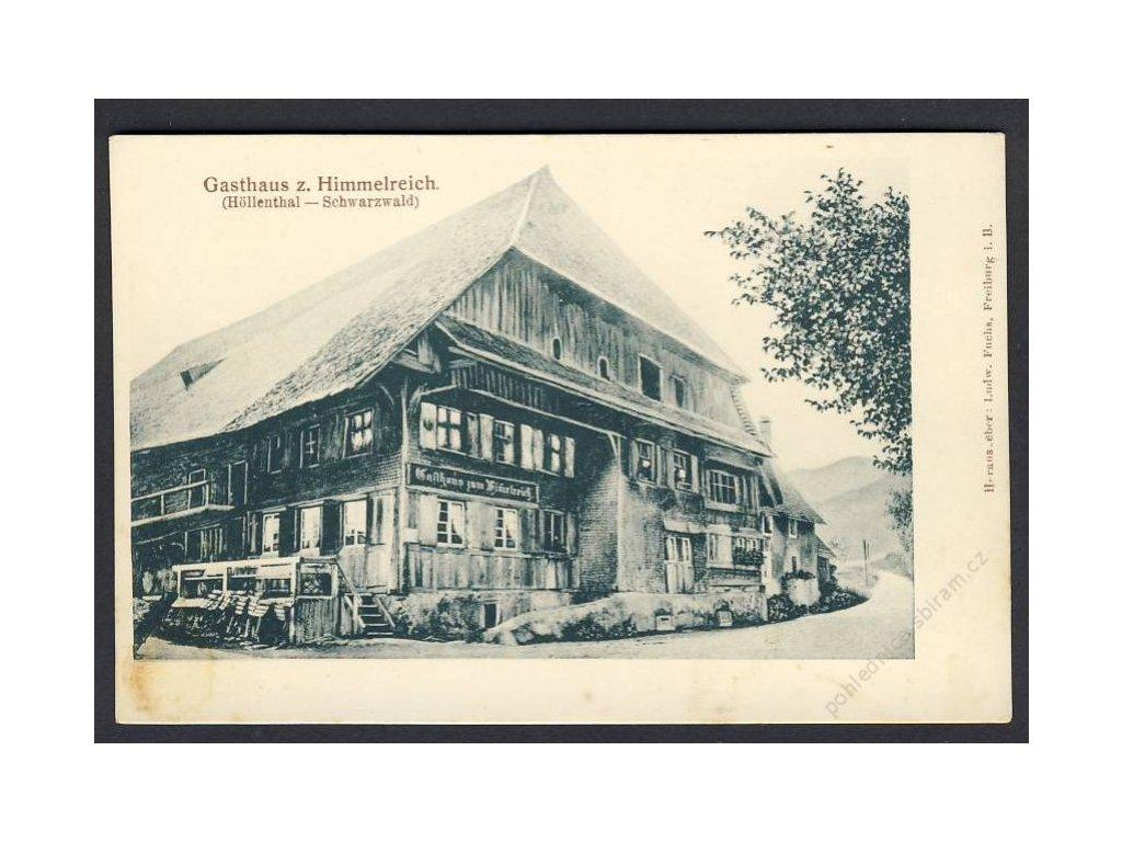 Deutschland, Gasthaus z. Himmelreich (Höllenthal - Schwarzwald), cca 1900