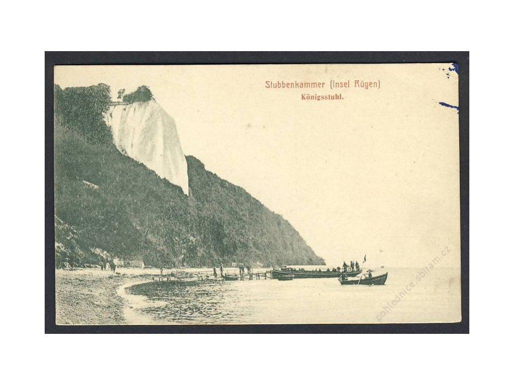 Deutschland, Insel Rügen, Stubbenkammer, Königsstuhl, cca 1904